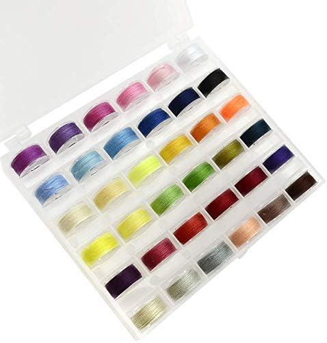 Wmchiwan Pack de 36 Carretes Arcoiris Color Varios Colores Hilos ...