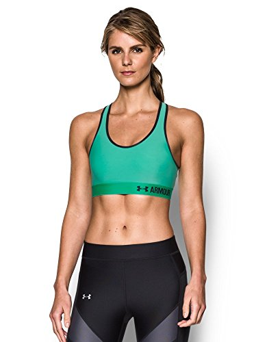 Apparel Sports - Under Armour Women's Armour Mid Sports Bra, Absinthe Green/Black, Medium