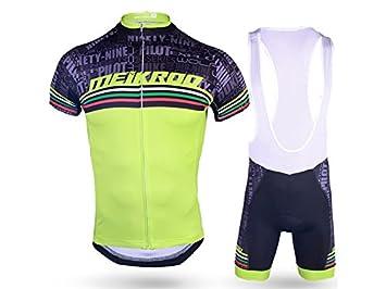 XDXDWEWERT Pantalones de Ciclismo Pantalones de Montar en BIC Traje de Ciclismo para Hombre + pantalón