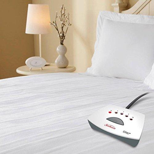 (Sunbeam Twin Heated Mattress pad with 5 Heat Settings)