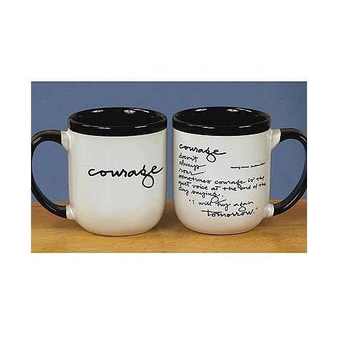 Courage Black/White Mug
