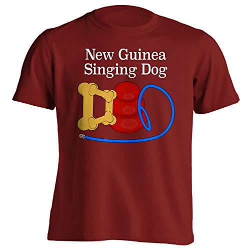 New Guinea Singing Dog Dad Funny Dog Breed T-Shirt - Large - Red