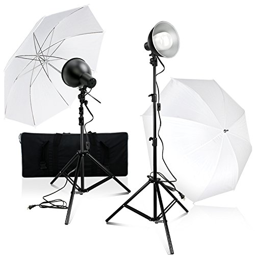 Julius Studio Photography Photo Video Studio 2-Pack LED Day Light Umbrella Continuous Lighting Kit with Carry Bag, JSAG367 by Julius Studio
