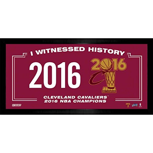 Steiner Sports NBA Cleveland Cavaliers 2016 Champion Logo I witnessed History 10'' x 20'' Collage Photo Frame, Navy by Steiner Sports