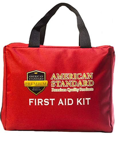 American Standard – First Aid Kit – Emergency Medical Kit – OSHA, ANSI, FDA Approved for School, Office, Home, Worksite – Ideal for Sports, Travel, Camping, Hiking, Hunting, Boat, RV, Car, Truck by American Standard PQP