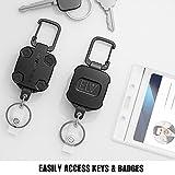 E LV Self Retractable ID Badge Holder Key