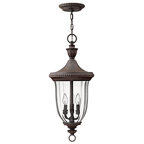 Hinkley 1242MN Traditional Three Light Hanging Lantern from Oxford collection in Bronze/Darkfinish,