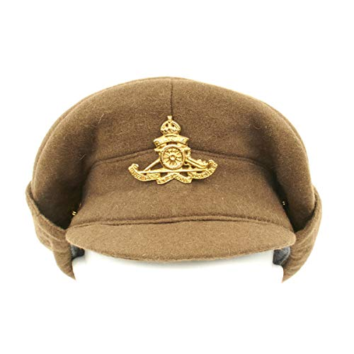 British WWI Gor Blimey 1915 Winter Forage Trench Wool Cap- Size US 7 1/2 (60cm) (Christmas Ww1 Trenches)