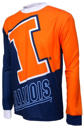 Illinois Cycling Jersey - NCAA Illinois Illini Mountain Bike Cycling Jersey (Team, Medium)