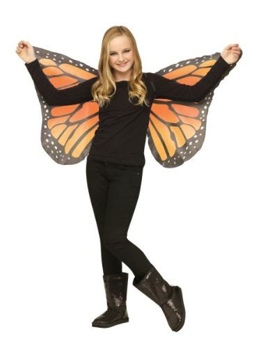 Fun World Soft Butterfly Wings Orange for Halloween, School Acting, Costume Party, for Girls (Kids) Child Size (1 Pack)]()