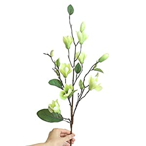 TiTCool Artificial Fake Flowers Leaf Magnolia 1 bunch 9 Heads NEW Wedding Bouquet Outdoor Party Home Decor 1