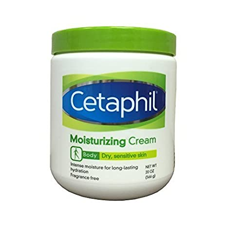 Cetaphil Moisturizing Cream for Dry, Sensitive Skin, Fragrance Free, Non-comedogenic, 20 Oz Each (Pack of 2) Body Scrubs at amazon
