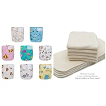 WEEKLY SALE! 20 Newborn Mom Label Pure & Natural (0-15 Months) Cloth Diapers+20 BAMBOO Inserts