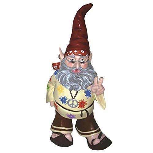 Peace Gnotwar 1960 s Hippie Garden Gnome