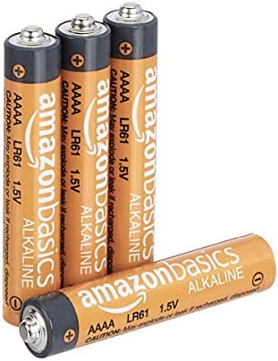 AmazonFundamentals AAAA 1.5 Volt Everyday Alkaline Batteries - Pack of four