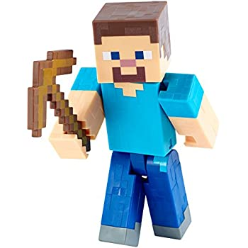 Amazoncom Minecraft Steve with Pickaxe 5 Figure Toys  Games