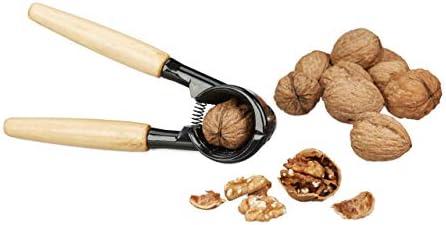 Estable: cascanueces de aluminio con mango de madera perfecto para abrir frutos secos sin esfuerzo,C