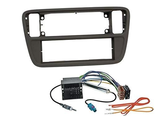 ab 12//2011 1 Din Radio Einbauset Blende Radioanschlusskabel Antennenadapter f/ür Skoda Citigo AA//AAN
