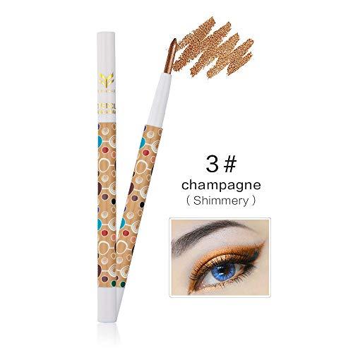 HUAMIANLI 1Pc Waterproof Highlighter Glitter Eye Shadow Pen Matte Eyeshadow Pencil Makeup Tool