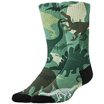 ae2e4d45e Green Dinosaurs 3D Knee High Graduated Compression Socks for Men Women Boys  Girls Kids