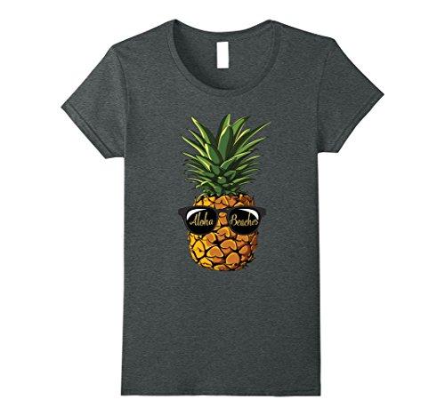 Womens Pineapple Sunglasses Aloha Beaches Hawaii - Hawaiian T-shirt Large Dark - Aloha Sunglasses Friday