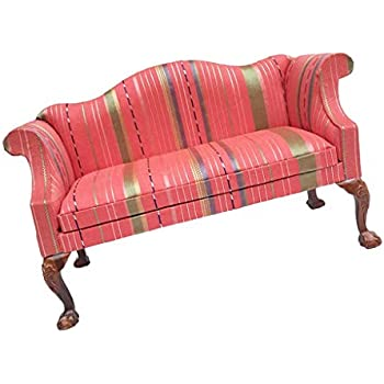 Flannelette Sofa Armchair for 1//6 Dolls House Furniture Decoration Pink