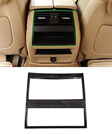 Nero cornice in legno di frassino scuro posteriore climatizzatore Vent cover Trim accessori per serie 5 F10 2010 –  2016 Carwest