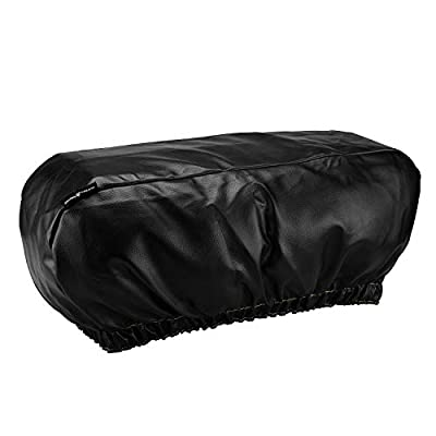 """Seven Sparta PU Leather Winch Cover for Electric Winches Up to 17500 Lbs, Waterproof, Dust-Proof,UV & Mildew-Resistant Universal Winch Protective Cover, 24"""" W x 10"""" H x 7"""" D (Black)"""