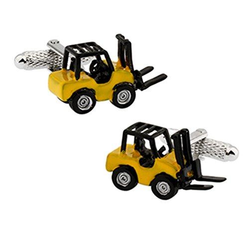 3D Mens Executive Cufflinks Forklift Truck Cuff Links Executive Cufflinks