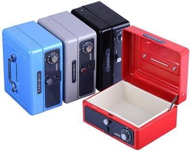CGOLDENWALL - Caja de metal con cerradura de contraseña pequeña con cerradura de seguridad, color negro: Amazon.es: Oficina y papelería