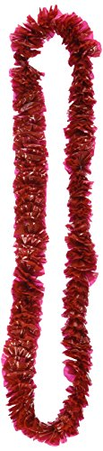 Soft-Twist Poly Leis w/Labeled Box (red), 50 Red Leis Per -