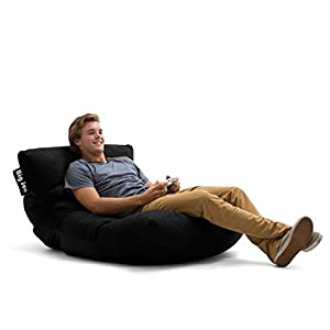 Big Joe Roma in Comfort Suede Plus Bean Bag, Black