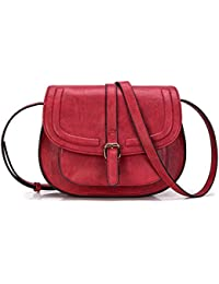 Small Purse Vintage Satchel for Women PU Leather Cover...