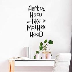 JiuJiu.Yan Cartoon Ain't no Hood Like Mother Hood Cartoon Wall Decals PVC Mural Art DIY Poster for Kids Rooms Wall Stickers Wallpaper58x47cm