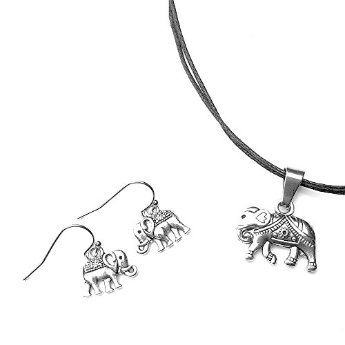 Adjustable Necklace Earrings - Chimerical Goods Circus Elephant Earring & Adjustable Necklace Jewelry Set (Circus Elephant)