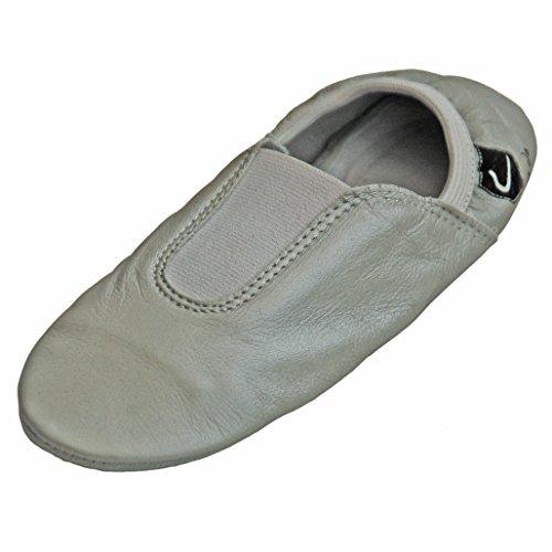 Lappa.de - Zapatillas de danza de Piel para mujer plateado plata