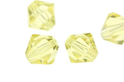 a5e77ee653b6c 100pcs 4mm Adabele Austrian Bicone Crystal Beads Jonquil Yellow Compatible  with Swarovski Crystals Preciosa 5301/5328 SSB409