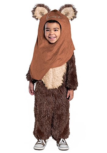 Ewok Costumes Adult (Princess Paradise Classic Star Wars Premium Toddler Wicket Costume, Brown, 2T)