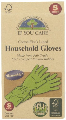 1 pair by If You Care FSC Certified Latex Small If You Care IUC-67052P4 Household Gloves