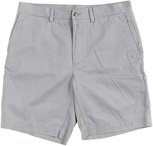 Polo Ralph Lauren Mens Chino Flat Front Shorts (Soft Grey, ()
