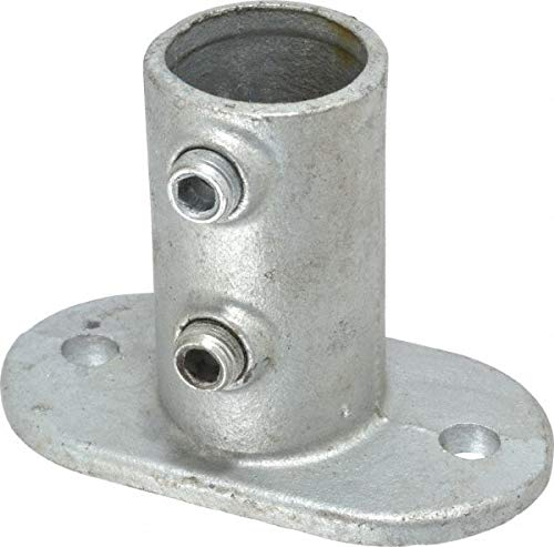 PRO-SAFE - 1-1/4 Inch Pipe, Railing Flange, Malleable Iron Pipe Rail Fitting