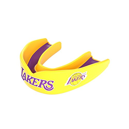 - Shock Doctor 8300 NBA Los Angeles Lakers Basketball Mouth Guard, Gold/Purple, Adult