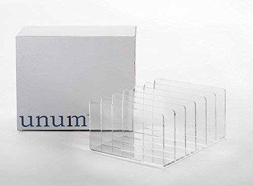 Unum Clear Acrylic Desktop File Organizer, 13-Inch x 10.5-Inch x 6-Inch Clear Acrylic Desk Accessories