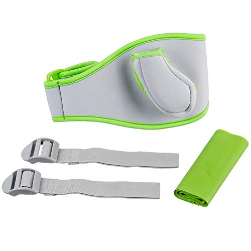 OSTENT 2 in 1 Leg Strap Resistance Ban Pack Kit Sports Video Games Compatible for Nintendo Wii Fit ()