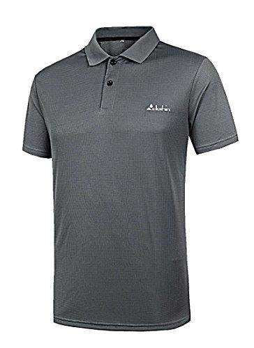 Clothin(クロズイン) ポロシャツ メンズ 半袖 ゴルフ カジュアル ストレッチ生地 スリム 速乾 通気 CT13311-XL-グレー