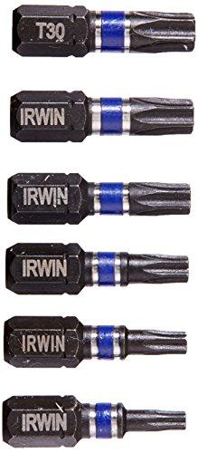 Irwin Tools 1837414 Impact Performance Series Tamper-Resistant TORX Insert Bit Set (6 Piece) - Torx Insert Bit