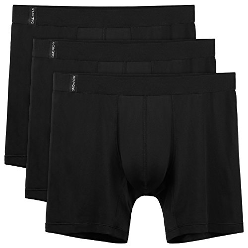 David Archy Men's 3 Pack Quick Dry Polyester Boxer Briefs ()
