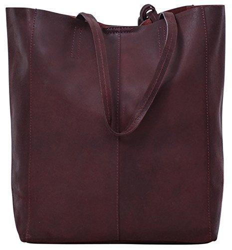 Cuoio Tempo Gusti Vera Pelle Shopping Il 2h51 Cassidy Borsa 1 Marrone Per Donna Studio 33 Leder Di Bag Libero FwxOSqF0