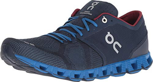 On Running Mens Cloud X Road Shoes Midnight/Cobalt SZ 11.5 (Best Shoes On Feet)