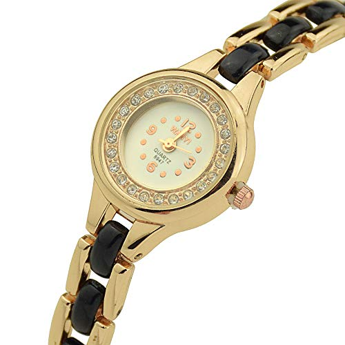 Wokee_ Reloj de Pulsera de Diamantes Redondos Women, Redondo ...